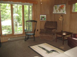 Lake Wallenpaupack house photo - Den with television and pull out couch