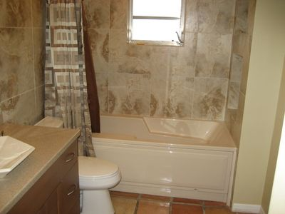 Master Bathroom W/ New Cabinetry, Tiled Rain Shower/Extra Deep Soaking Tub