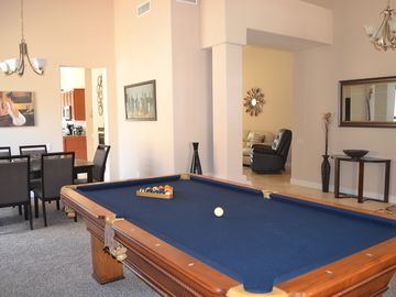 Scottsdale North house rental - Welcome to the Living Room with Full Size Pool Table and Large Flat Screen TV
