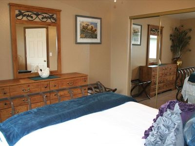 Bedroom one is our Iron Sleigh Bed room, early American, beautiful and inviting!