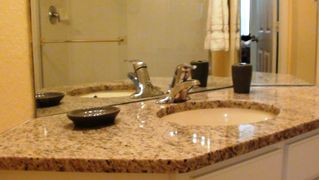 Windsor Hills condo photo - Granite countertops in the master bathroom