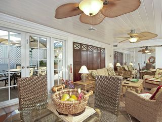 Key West condo photo - Living Room/Dining Room with French Doors to Deck
