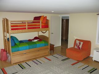 Wellfleet house photo - There is a pull out trundle under the bunk bed and 2 futons that open into beds.