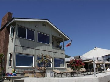 Ventura house rental - View of the house from the beach.