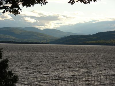 view of New York State's Adirondack Mountain Range from 'back yard'