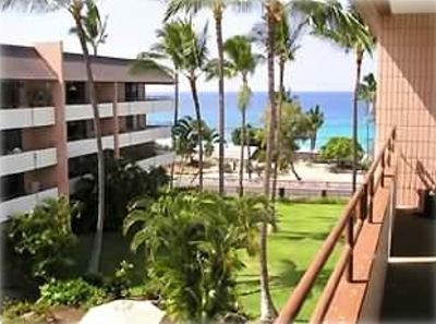 Kailua Kona condo rental - View from our lanai with the sound of the ocean.