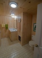 Tom Nevers house photo - Lower level bathroom 2 & laundry room Shower, one sink, toilet