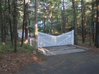 East Hampton house photo - Gated entry to 2 acre property