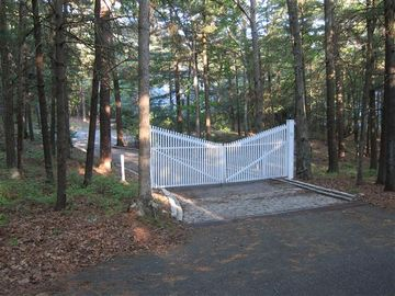 Gated entry to 2 acre property