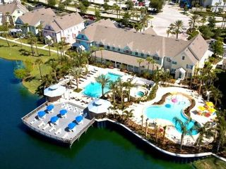 Kissimmee condo photo - Aerial view of lagoon. Seasonally heated pools and clubhouse.