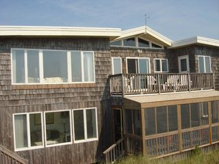 Oceanview deck upstairs. Huge screened-porch downstairs. - Brant Beach house vacation rental photo