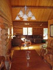 Whitefish cabin photo - Huge room, very open layout, fireplace