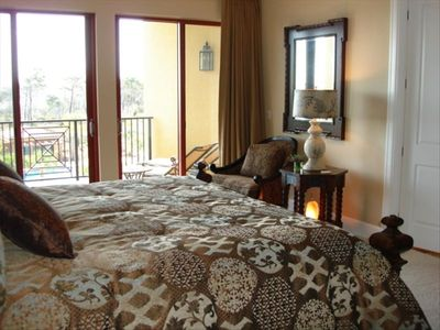 Extra Large Grand Master Bedroom and Sitting Area with Sunset Views