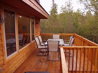 Lutsen lodge photo - Sit on the deck, relax w/views & sounds of Lake J