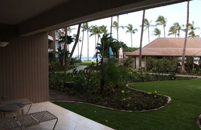 Lanai view to beach