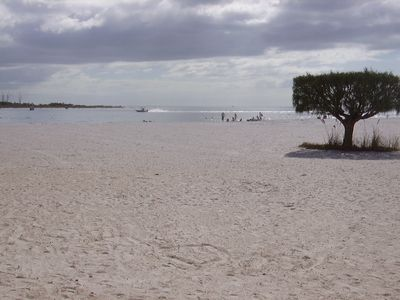 Our beautiful beach on the Gulf-Steps to Lover's Key-Park-rent bikes & kayaks.
