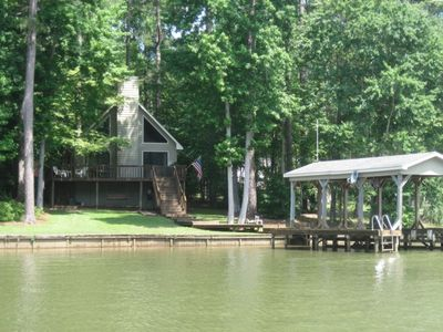 Dock and house from lake.