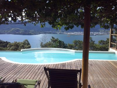Beautiful house with pool and magnificent views for 11 people in Ilhabela.