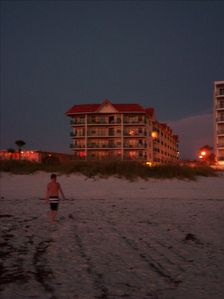 St Pete Beach cabin rental - Vistas at night. You can walk the beach at all hours, it's beautiful!