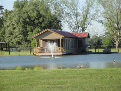 Cajun Pondside Cabin is Located 4 Miles North of Lafayette, La