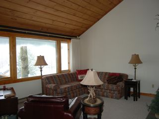 Lincoln townhome photo - Living Room with Panoramic View of Loon Mountain