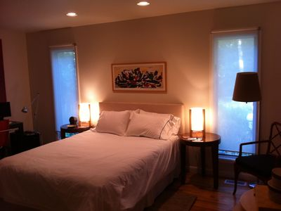 East Hampton house rental - Bedroom #3 has a queen bed, and a full size futon stored in one of the closets.
