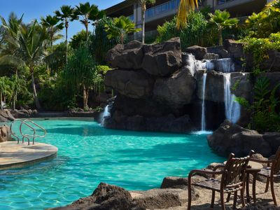 The Ho'olei pool includes a fabulous 19' waterfall