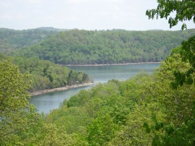 View of Beaver Lake from the deck