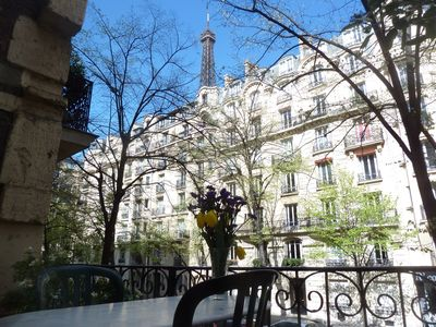 Amazing view of the Eiffel Terrace from our private terrace!