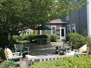 Nantucket Town house photo - Front Side Patio - View No. 1