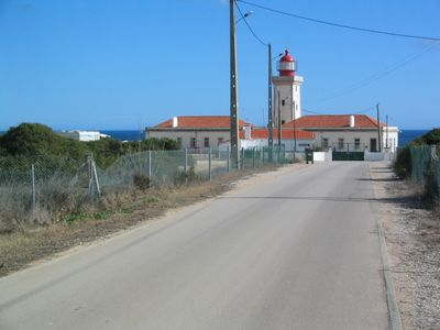 Lighthouse down the road