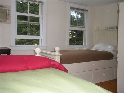 West Falmouth house rental - Twin bedroom; understorage with each bed plus dresser