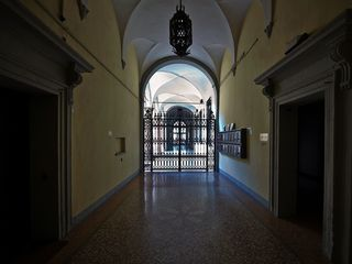 Bologna apartment photo - The patrician palace gorgeous entrance. Olympia is a 2nd floor, with elevator.