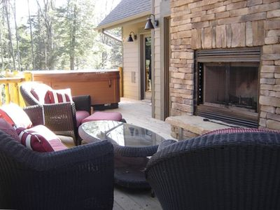 Luxury Outdoor Furniture - On Extensive Decking with..