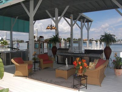 St Pete Beach estate rental - Our outdoor living room and kitchen.