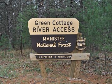 Baldwin / Walhalla cabin rental - US Forest Service River Access named after cabin