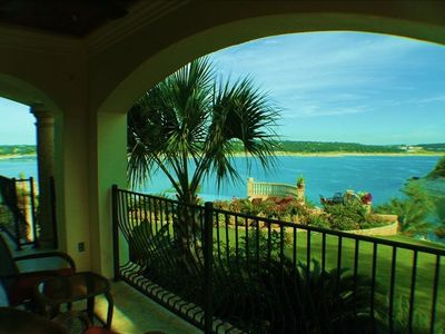 Lakeway villa rental - View from lanai directly outside of King Room.