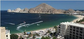 Cabo San Lucas condo photo - Terrace View of Lands End, Medano Beach & Marina.