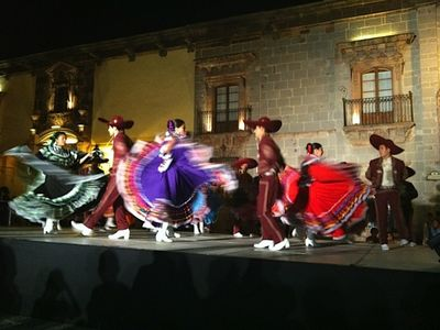 One of the many dance troupes that come to San Miguel throughout the year.