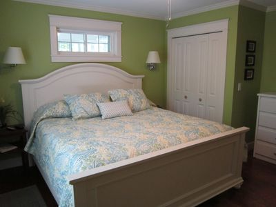 "Master Bedroom with King Bed & 42"" Plasma TV"