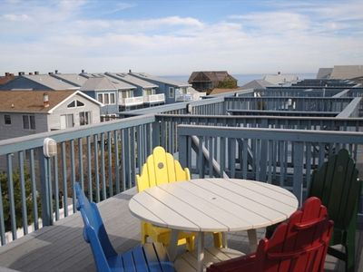 Rooftop deck with views of Ocean and Bay. There are 4 additional decks.