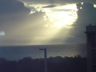Cabo Rojo apartment photo - Beautiful Sunset from Balcony (In a cloudy day)