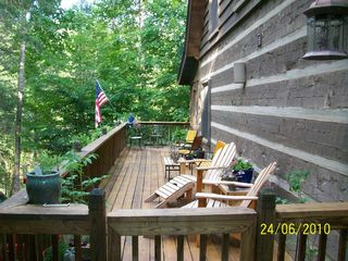 Black Mountain cabin photo - Relax on the sun deck listening to the sounds of nature