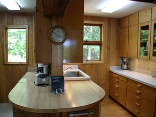 North Conway estate photo - Large kitchen with plenty of counter space, two sinks and all ammenities.