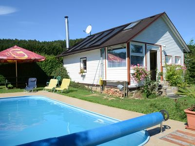 Detached chalet with private swimming pool in beautiful nature of Mala Viska