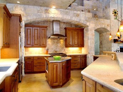 Delightful Kitchen-Limestone Counters, Two Refrigerators, Double Oven, Ice-Maker