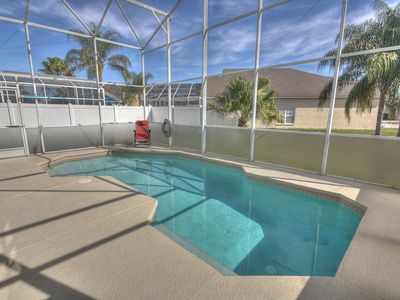 Two story oversized Pool Lanai, Florida Privacy Glass and fully screened in