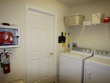 Laundry Room: Washer/Dryer - AED is located on wall