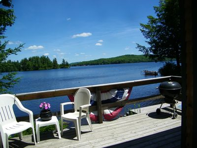 Hopkington cottage rental - Great Views from the Deck of Beautiful Lake Ozonia