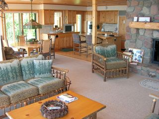 Lutsen house photo - living room, dining room, kitchen